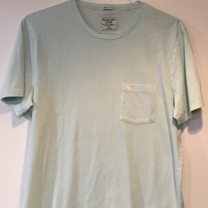 Abercrombie & Fitch Men's Aqua T-shirt Size XXL